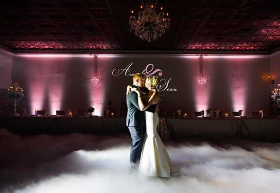 wedding reception custom lighting kansas city